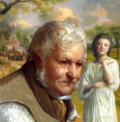 Silas Marner paint old man stock art