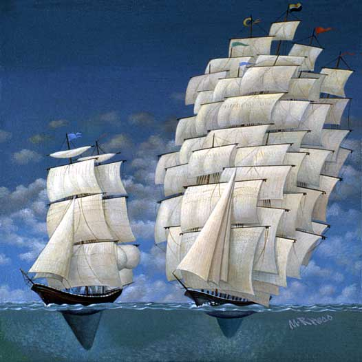 Stability ship boat sea sail water stock art
